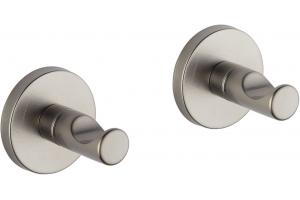 Brizo 693520-BN Modern Brushed Nickel Robe Hook - Pair