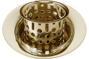 Brizo 72011-BB Floriano Brilliance Brass Kitchen Sink Flange & Strainer