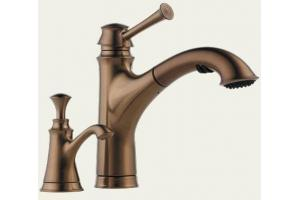Brizo 63305-BZ Baliza Brilliance Brushed Bronze Pull-Out Kitchen Faucet with Soap Dispenser