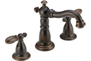 Delta 35955LF-RB Victorian Venetian Bronze Two Handle Widespread Lavatory Faucet