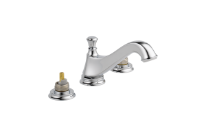 Delta 3595LF-MPU-LHP Cassidy Chrome Two Handle Wide Spread Lavatory - Low Arc Spout with Metal Pop-Up