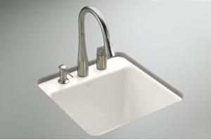 Kohler Park Falls K-6655-2U-0 White Undercounter Sink with Two-Hole Faucet Drilling