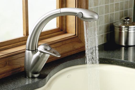 Kohler Avatar K-6350-VS Stainless Pull-Out Kitchen Faucet ...