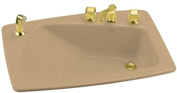 Kohler Lady Vanity K-2170-8S-33 Mexican Sand Self-Rimming Lavatory ...