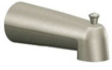 moen tub faucets brushed nickel. Moen 3853BN Brushed Nickel 1 2  Slip Fit Diverter Tub Spout