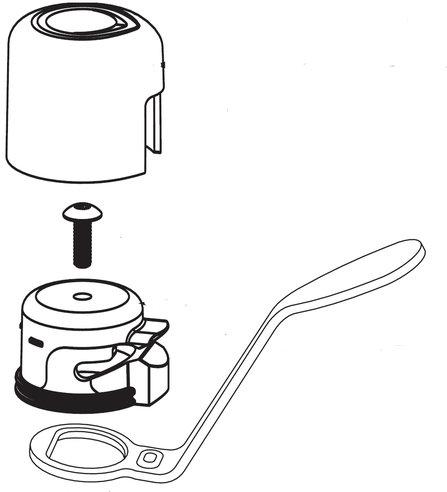 Moen 93971 Chrome Kitchen Handle Embly