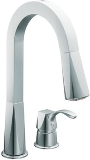 ShowHouse by Moen Divine S758 Chrome Kitchen Pull-Out Faucet ...