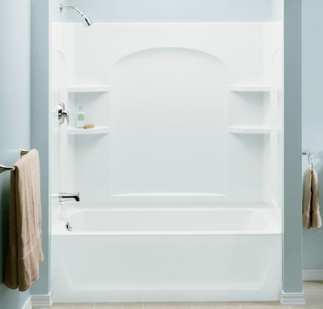 Sterling Ensemble 71220116 0 White 60 X 32 X 74 Curve Bath Tub