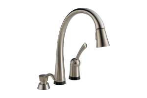 Delta Pilar Single Handle Pulldown Kitchen Faucet With Toucho Technology