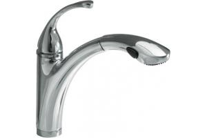 Kohler K-10433-CP Forte Polished Chrome Pullout Faucet