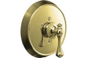 Kohler Revival K T16117 4a Pb Polished Brass Rite Temp Pressure Balance Trim With Traditional Lever Handle Affordablefaucets