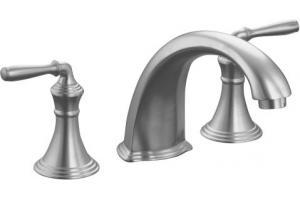 Kohler Devonshire K T398 4 G Brushed Chrome Roman Tub Faucet Trim With Lever