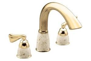 Moen Asceri T970cgpc Classic Gold Pebbled Cream Roman Tub