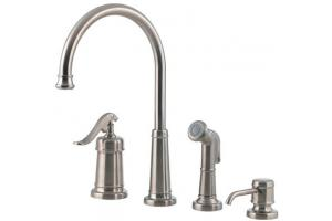 price pfister ashfield kitchen faucet price pfister ashfield 26 4ypk satin nickel single handle 25505