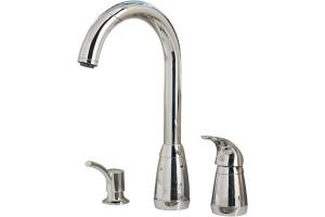 price pfister contempra kitchen faucet price pfister contempra t526 5cc polished chrome lever handle pull out kitchen faucet with soap 8454