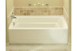 "Sterling Ensemble 71121110-0 White 60"" x 32\"" Bath with Left-hand Drain"